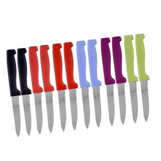 سكاكين للفواكه والخضروات طقم  12 قطعة متعدد الون