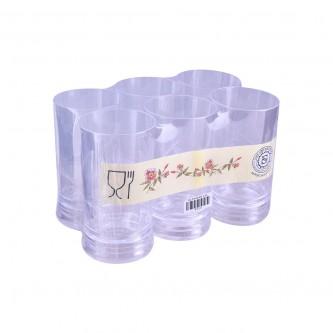 كاسات ,بلاستيك , 6حبة شفاف , موديل P103/8