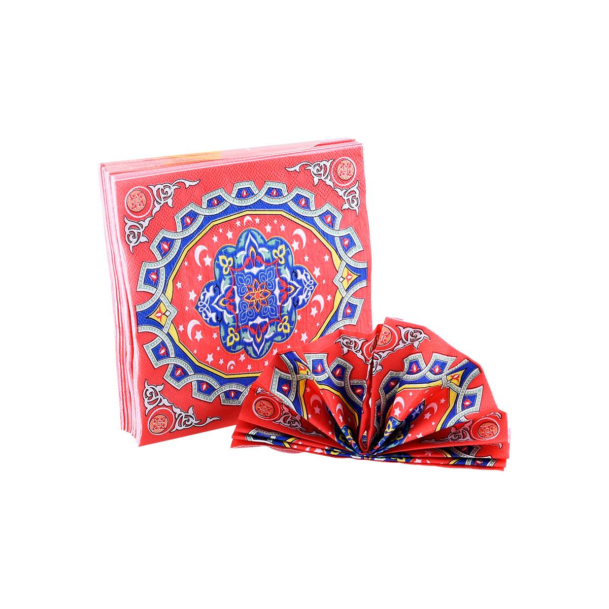 مناديل سفرة رمضان ملون رقم 1-40000