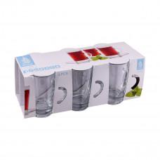 طقم كاسات شاي زجاج بيد  6 حبه رقم 55143+1092172