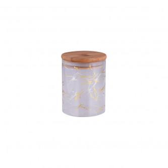 برطمان , زجاج  ,رخامي غطاء خشب صغير موديل 1002531