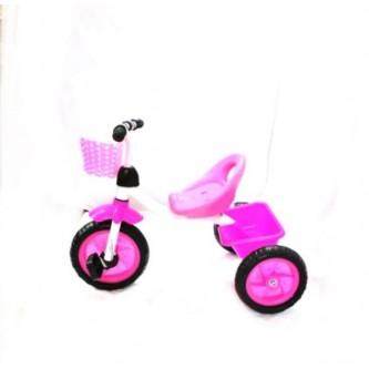 دراجة اطفال ثلاث عجلات - مقعد واحد - لون وردي رقم 0818