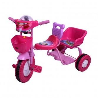 دراجة اطفال ثلاث عجلات - 2 مقعد -  الوان متعدده رقم 0906
