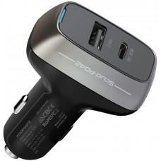 شاحن سيارة بروميت 3.0 للشحن السريع بقوة 42 وات مع منفذ USB-C