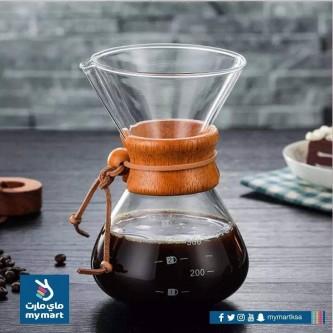الة قطاره قهوة زجاج مقبض خشب معيار موديل 1002518