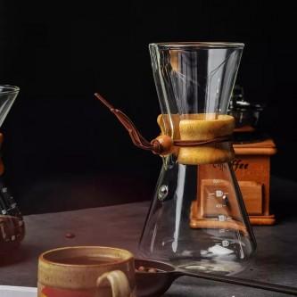 الة قطاره قهوة زجاج مقبض خشب معيار موديل 1002519