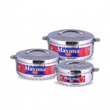 طقم حافظات طعام ماكسيما - استانلس استيل 3 مقاسات HP-104-3M