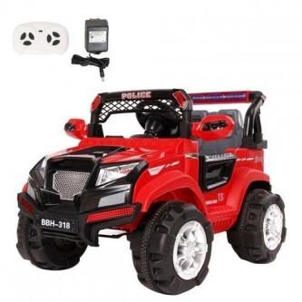 سيارة  اطفال كهربائية جيب لون احمر  رقم BBH-318