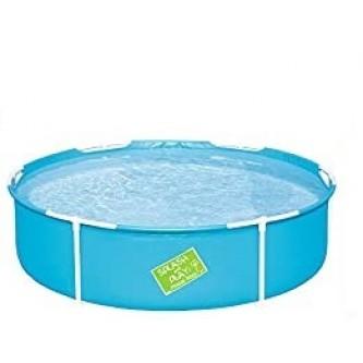 حمام سباحة بإطار معدن مدور الأضلاع من بيست واي 56283