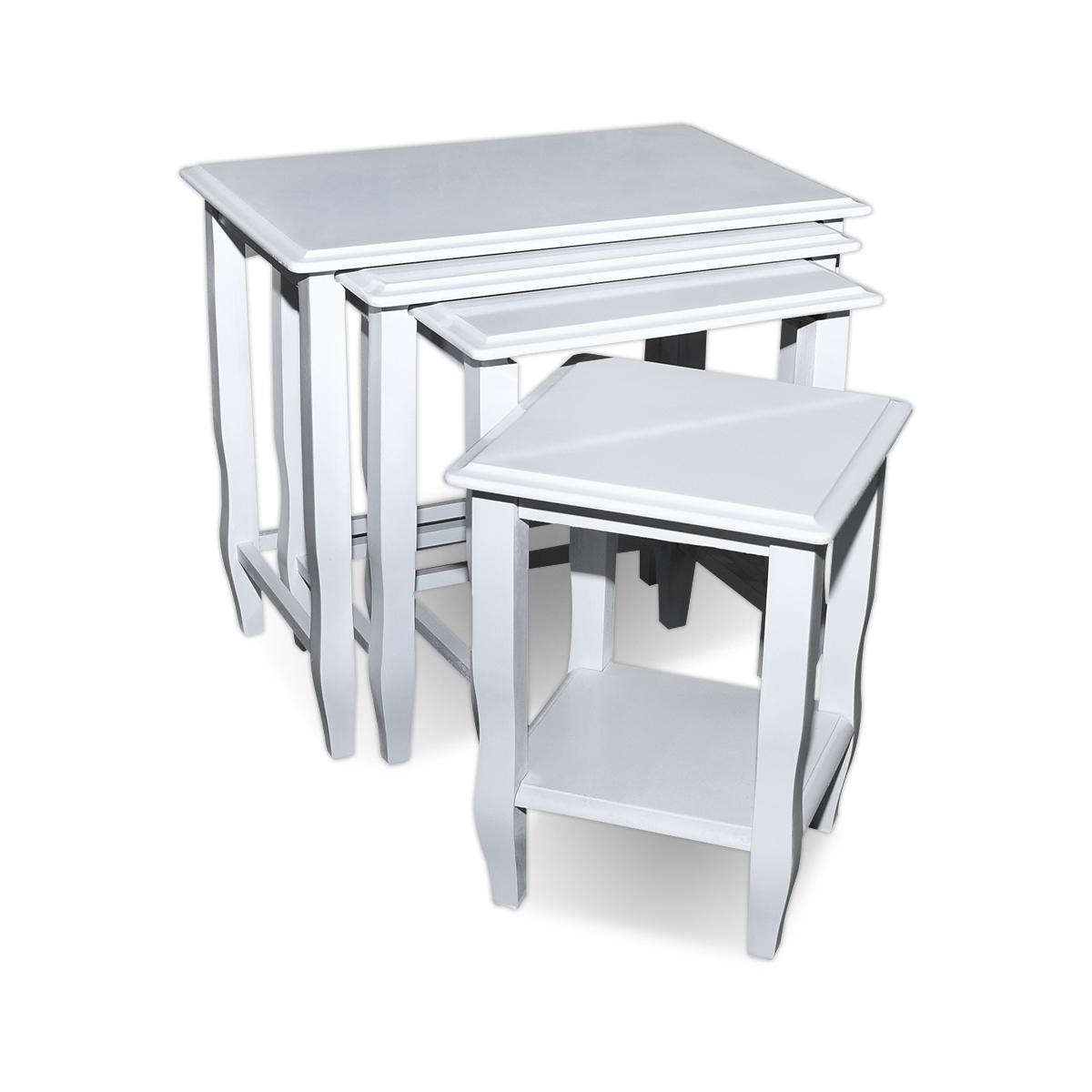 طاولة تقديم وخدمة خشب 4 قطع الوان واشكال متعدده   موديل 0101