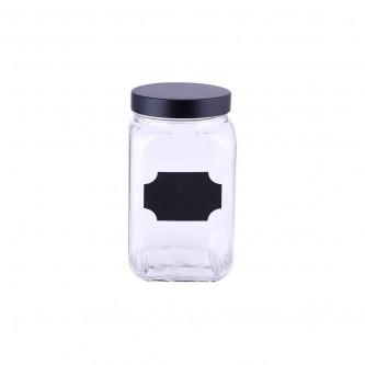 علب بهارات  زجاج غطاء حديد موديل123720/1