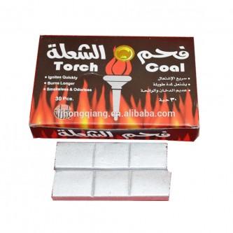 فحم الشعلة صناعي فضي صغير, 30 قطعة