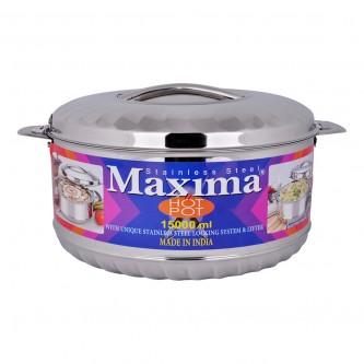 حافظة طعام ماكسيما - 15000 مل -استانلس استيل , فضي