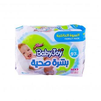 مناديل مبللة للاطفال لبشرة صحية من بيبي جوي - 150 منديل -