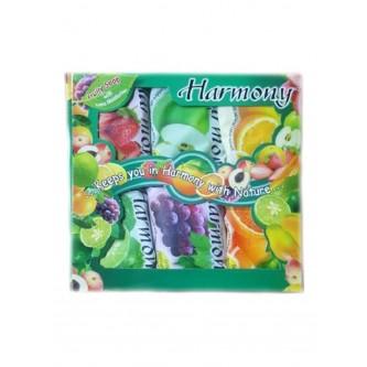 صابون هارموني  ترطيب إضافي بالفواكه 6 قطع متعدد الألوان 6x75 غم