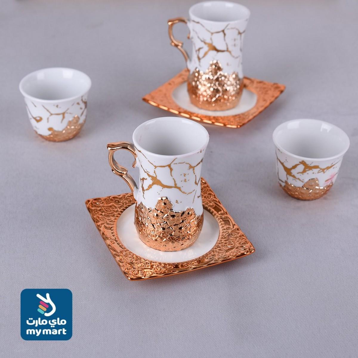 طقم  36 قطعة ,فناجين قهوة وبيالات شاي مع الصحون  رقم 50330