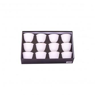 طقم فناجين قهوه سيراميك فاخرة 12 قطعه ذهبي 6000019