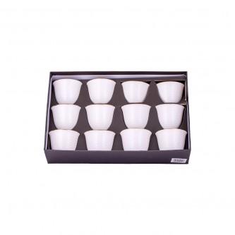 طقم فناجين قهوه سيراميك فاخرة 12 قطعه ذهبي 6000021