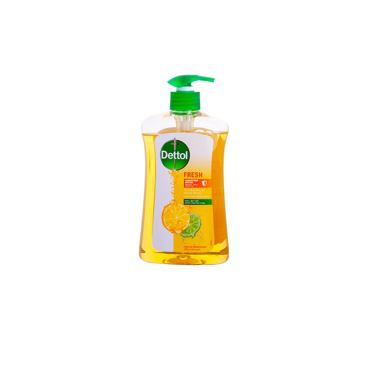صابون سائل ديتول غسول اليدين المنعش ليمون وزهر البرتقال 400 مل