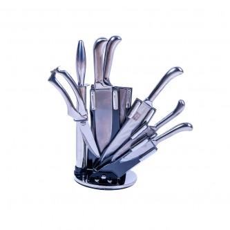 طقم سكاكين 8 قطع بقاعده بلاستيك موديل 012-13-13-16