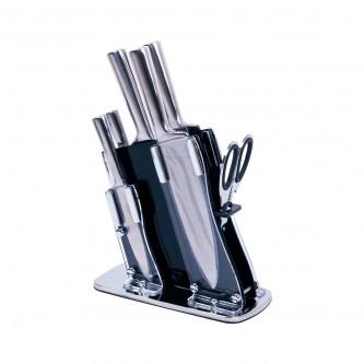 طقم سكاكين 7 قطع بقاعده بلاستيك موديل  011-13-13-16