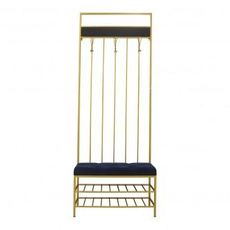 كرسي قطيفه مع ظهر وعلاق ازرق موديل AS9280