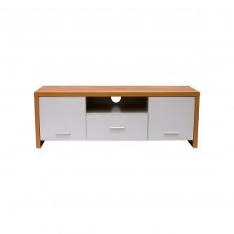 طاولة تلفاز مع ارفف خشبيه بني مقاس 120 * 39 * 42 سم موديل BQ092-0577