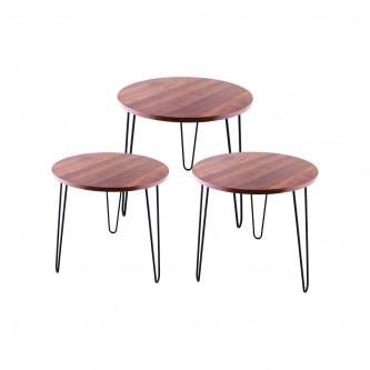 طاولة تقديم وخدمة خشب 3 قطعة رقم NL19311R