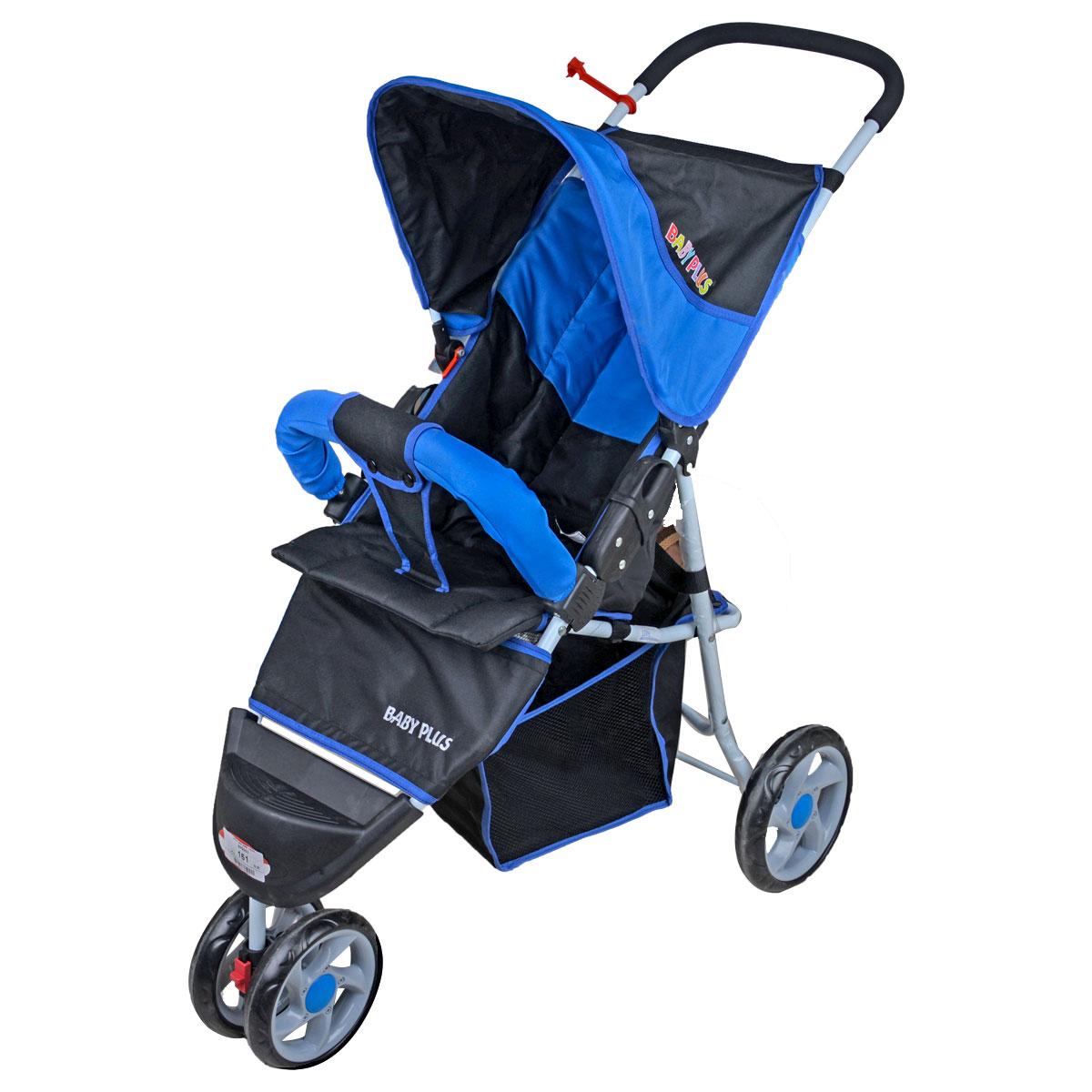 عربة اطفال - ازرق  - من بيبي بلس 7740