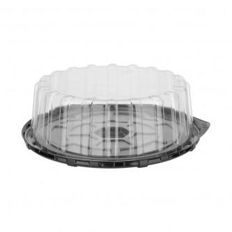 حافظة كيك شفاف دائرية  مع غطاء - 20 سم