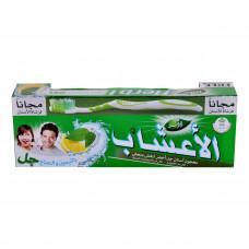 معجون اسنان دابر الاعشاب مع فرشاه بالليمون والنعناع  -  150 جرام
