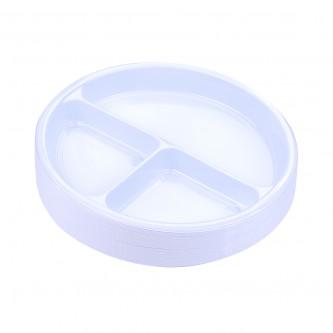 صحون بلاستيك الوطنية دائري  - رقم 22 مقسم   - 50 حبة
