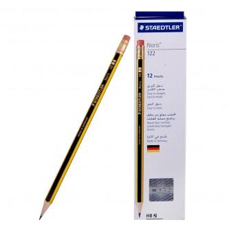 اقلام رصاص ستيدلر  HB2 مع ممحاة - 12 قلم