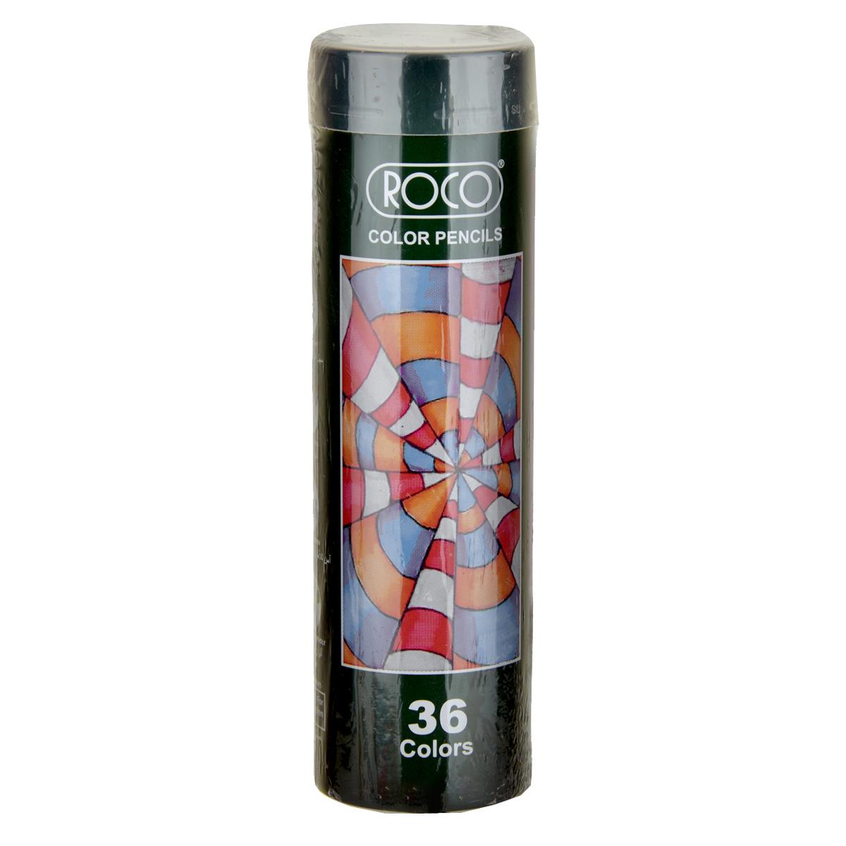 اقلام تلوين خشبية روكو   - 36  قلم تلوين