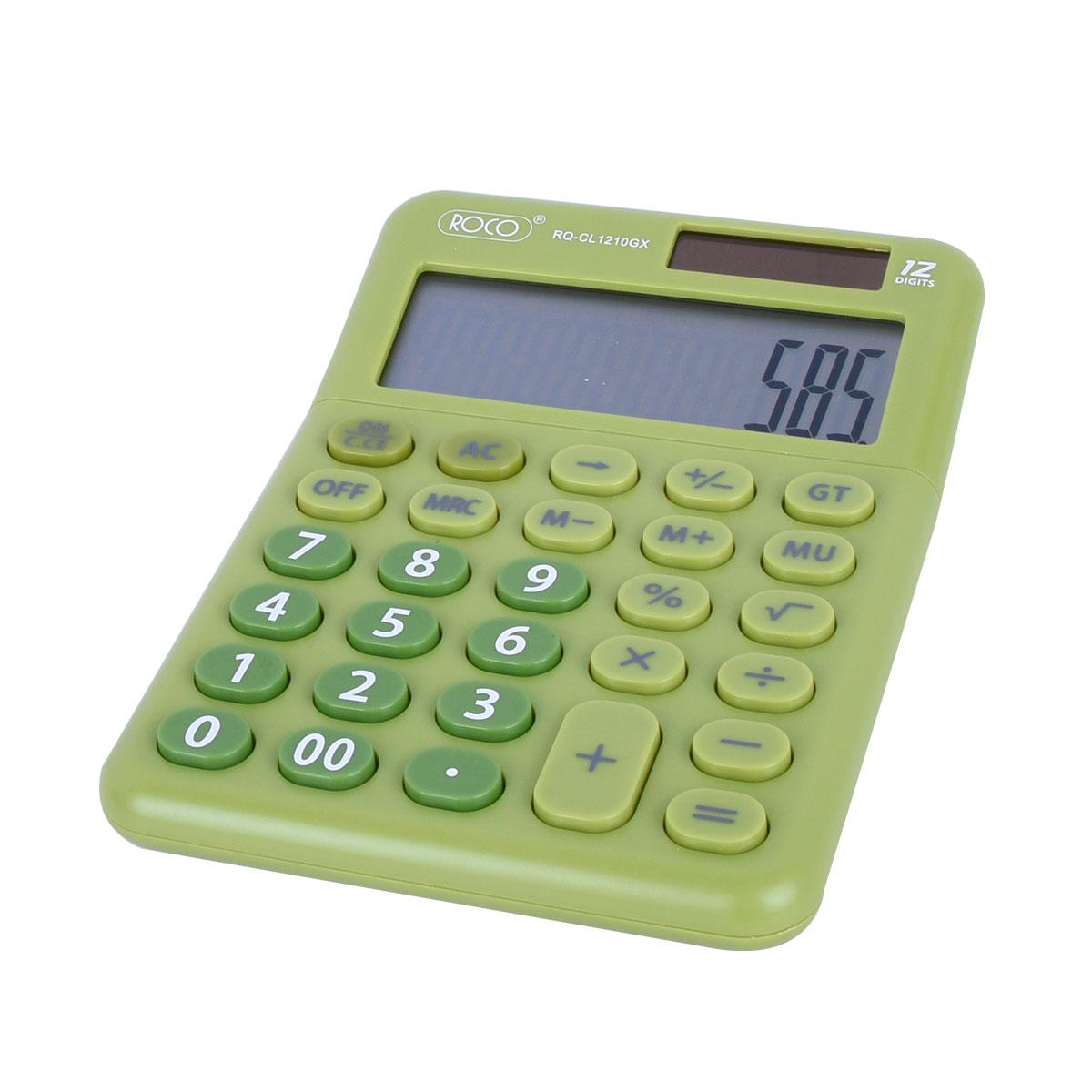 الة حاسبة للمكتب ،12 رقم ،شاشة كبيرة روكو RQ-CL1210GX