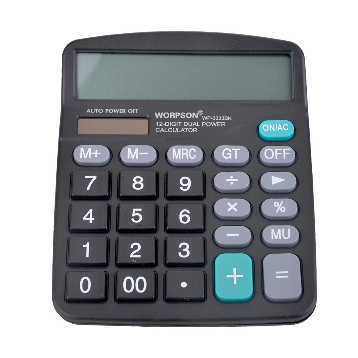 الة حاسبة  WORPSON  ،شاشة كبيرة  12 رقم