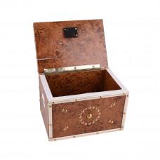 حصالة نقود خشبية مع قفل - الوان واشكال متعدده - موديل HR0216