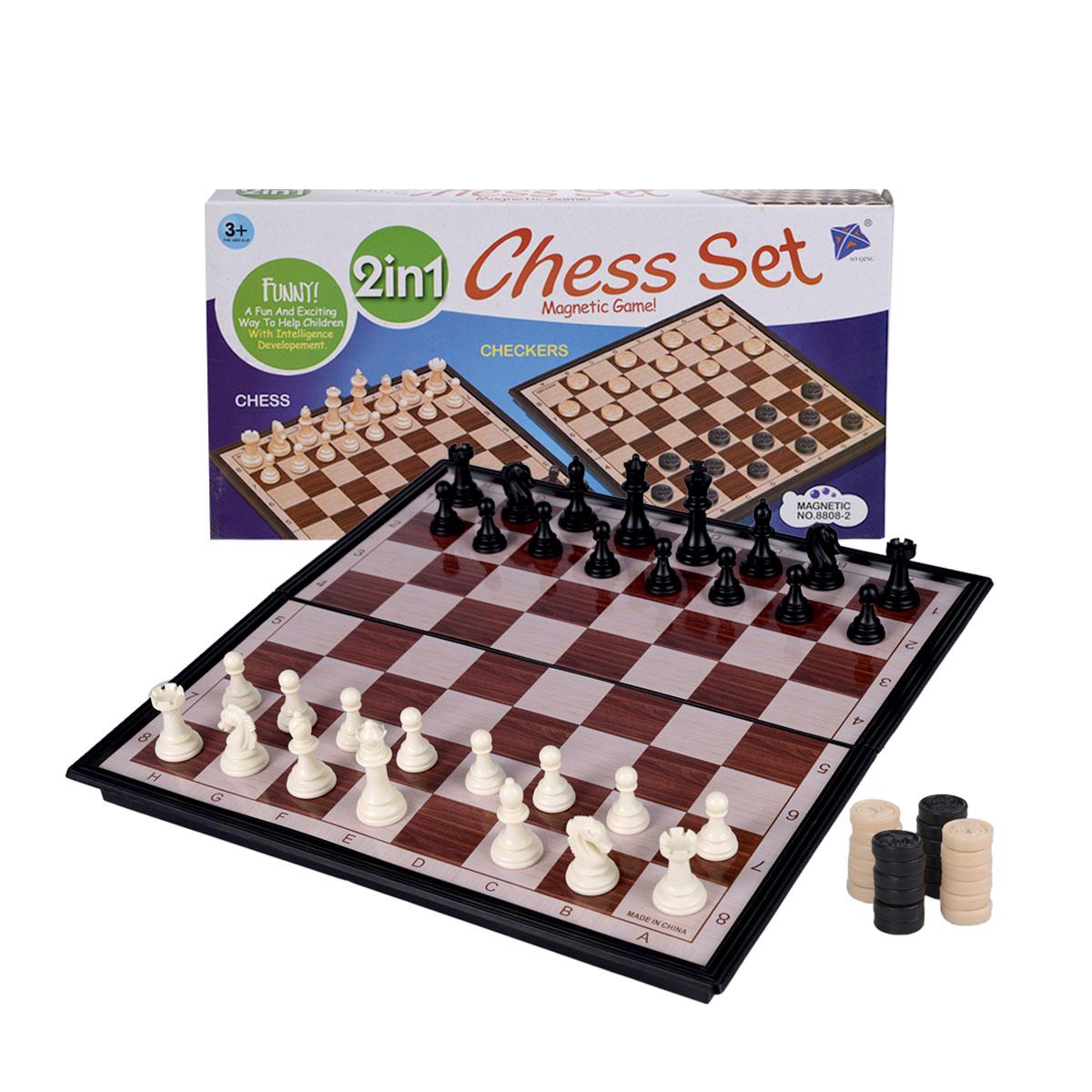 لعبة شطرنج  بلاستيكية  لوح 30*30  سم