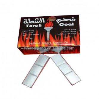 فحم الشعلة صناعي فضي, 60 قطعة