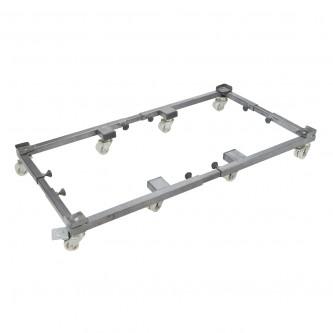 قاعدة ثلاجة وغسالة بعجلات  قابلة للتعديل والتحريك 8 عجلات مزدوجة