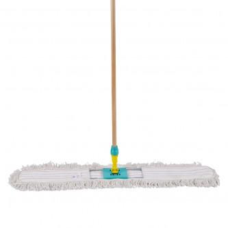 ممسحة ارضيات قطن ايطالية - 100  سم -  مع عصا خشبية