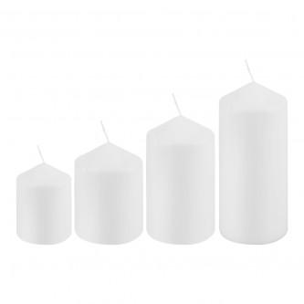 شمعة بدون رائحة  لون ابيض طقم 4 حبة دائري