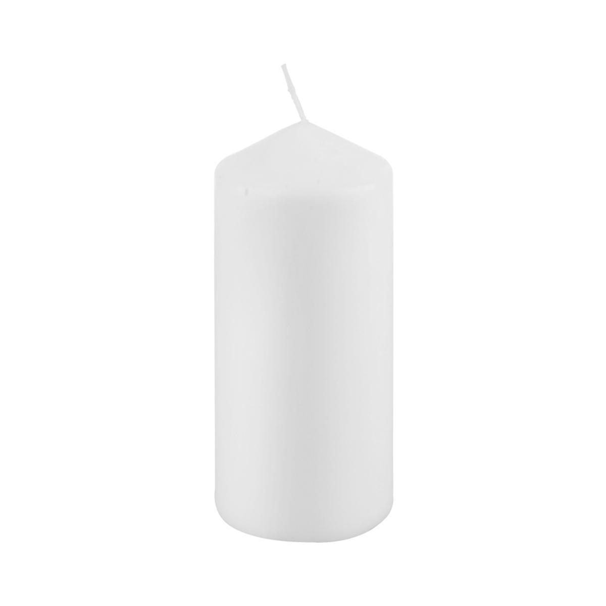 شمعة بدون رائحة  لون ابيض  دائري ارتفاع  14 سم,