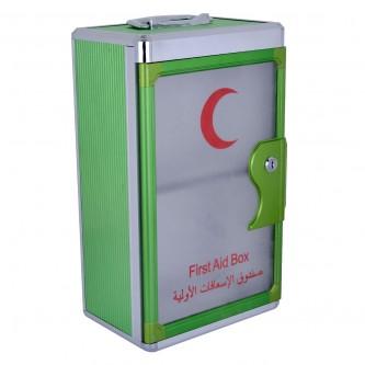 صندوق الاسعافات الأولية  - مستطيل الشكل - استانلس استيل