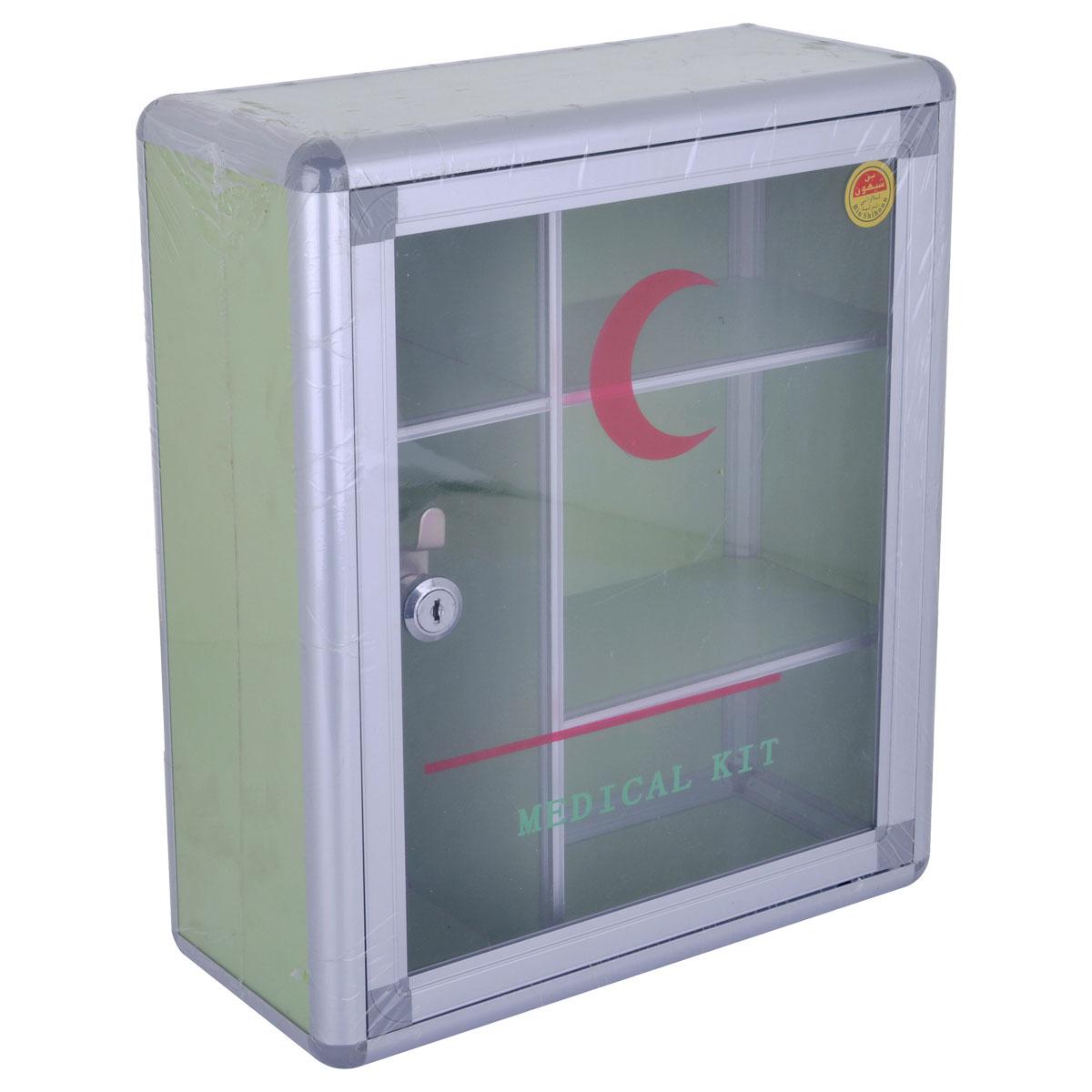 صندوق الاسعافات الأولية  - المنيوم - 34 * 29 سم