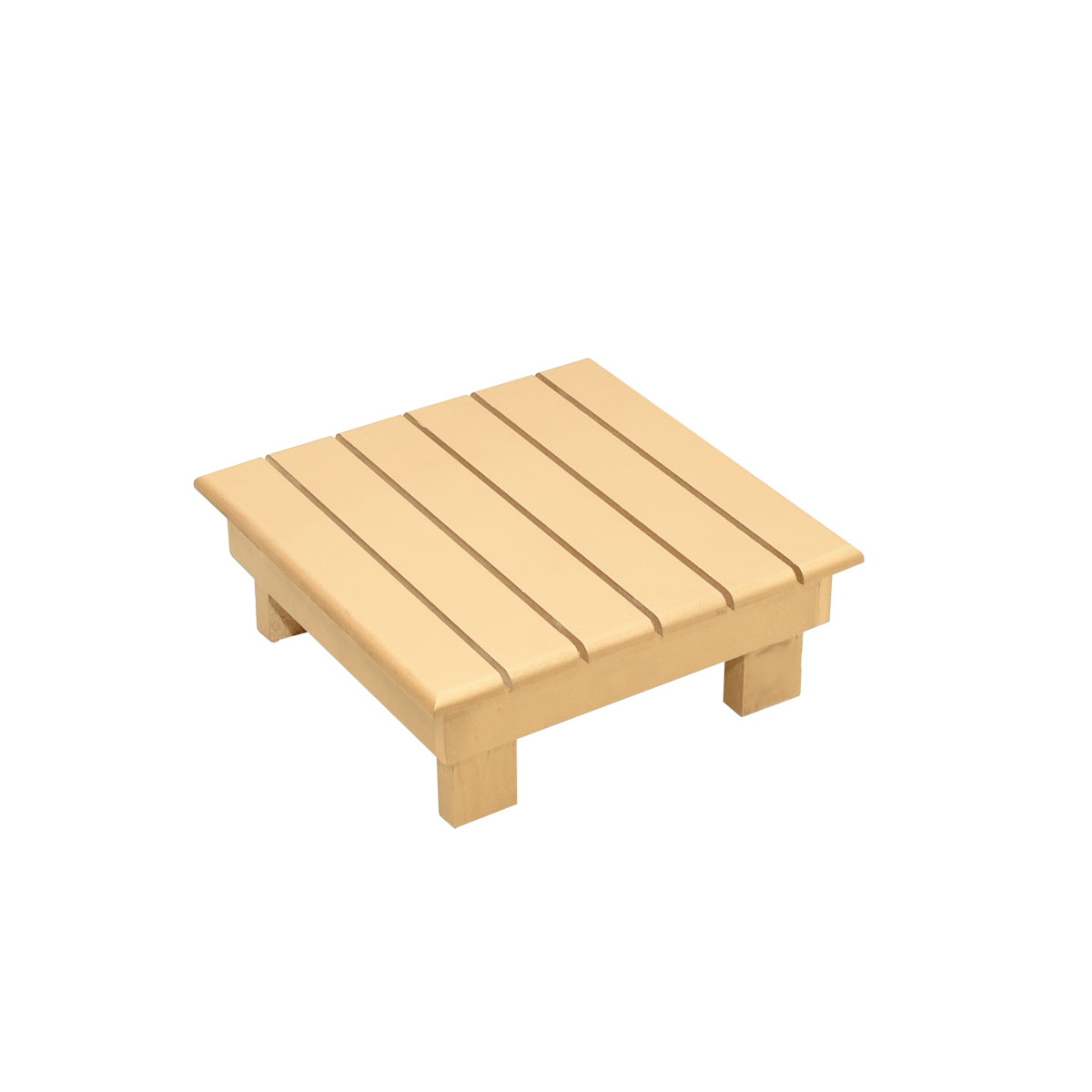 طاولة تقديم وخدمة خشب شرائح مربعه مقاس  30 * 30 * 10 سم