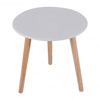 طاولة تقديم وخدمة خشب دائرية - 40 سم - لون ابيض - من ماي مارت