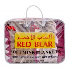 بطانية كوري الدب الاحمر - 4 كيلو جرام - 160 * 220 سم