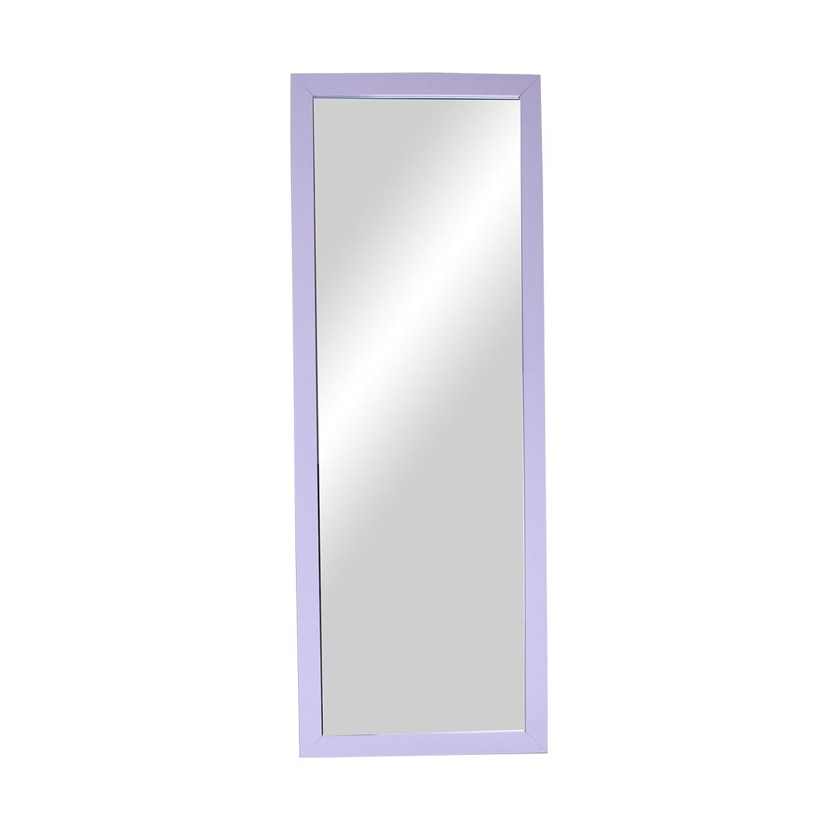 مرآة مستطيلة اطار خشبي - لون ابيض