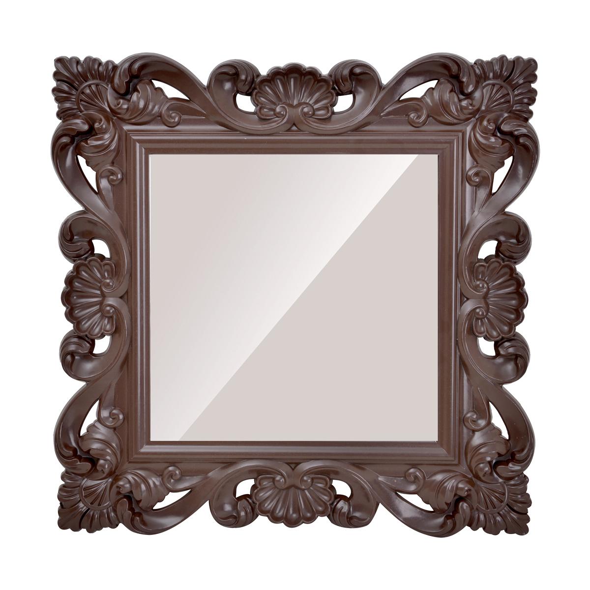 مرآة حائط مربعة الشكل - اطار بلاستيكي قوي مزخرف